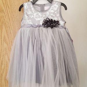 NWT Silver Popatu Sleeveless Tulle Dress
